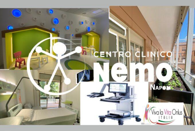 Viva La Vita Italia dona un contributo di 5.000 euro al Centro NEMO di Napoli per l'acquisto di un elettromiografo